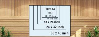 printing sizes