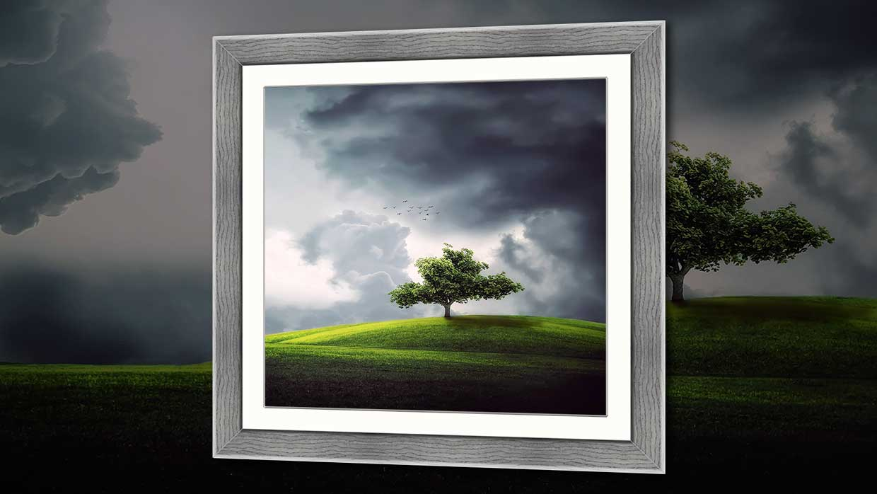 Square picture Framing