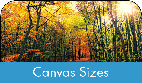 Canvas sizes - photos on canvas