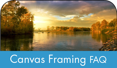 Canvas framing